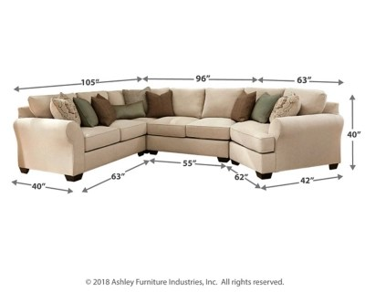 Wilcot 4 Piece Sectional With Cuddler Ashley Furniture
