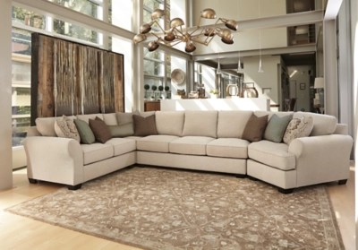 Wilcot 4 Piece Sectional with Cuddler   Ashley Furniture ...