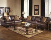 ashley furniture leather couch  Roselawnlutheran