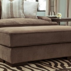 Ashley Chair And Ottoman Hanging Durban Fielding | Furniture Homestore