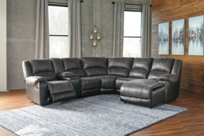 discount sofas sale leather recliner sofa with chaise nantahala 6-piece sectional | ashley furniture homestore