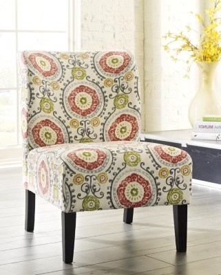 black and white paisley accent chair covers canada chairs ashley furniture homestore large honnally floral rollover