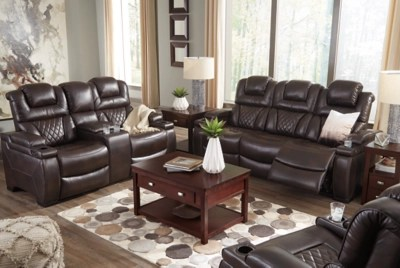 modern power reclining sofa leather sofas sacramento warnerton | ashley furniture homestore