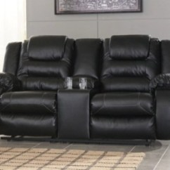 Black Reclining Sofa With Console Sleeper Prices Vacherie Loveseat Ashley Furniture Homestore Large