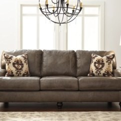 Living Room Furniture Leather And Upholstery Black White Curtains In Kannerdy Sofa Ashley Homestore Large