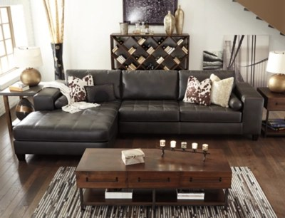 ashley furniture sectional sofa reviews best place to buy nokomis 2-piece | homestore