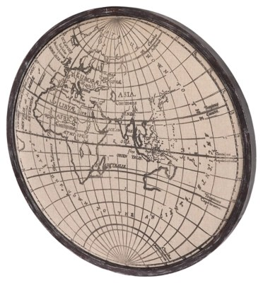 Home Accents World Map Wall Art Ashley Furniture HomeStore