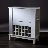 Mirage Mirrored Fold-Out Wine/Bar Cabinet | Ashley ...