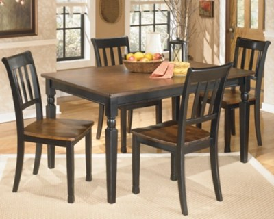 kitchen table sets faucet lowes dining room move in ready ashley furniture homestore large owingsville 5 piece set rollover
