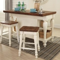 Kitchen Island Set Gooseneck Faucet With Pull Out Spray Marsilona 3 Piece Ashley Furniture Homestore Large