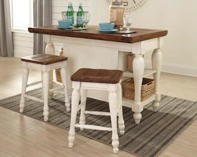 3 piece kitchen set corner bench seating with storage marsilona island ashley furniture homestore large