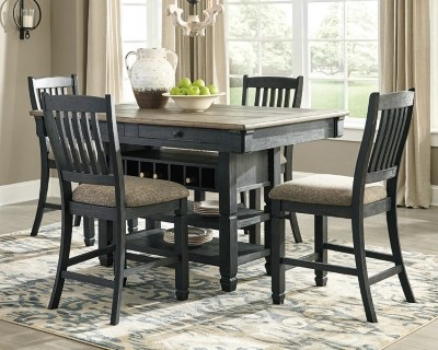 large tyler creek 5 piece counter height dining set rollover