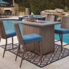 Outdoor Bar Table And Chairs Chair Cover Hire In London Partanna 5 Piece Set Ashley Furniture Homestore Large