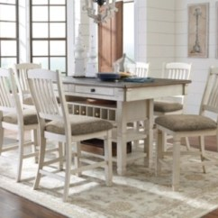 Living Room Furniture Table Types Of Curtains For Dining Sets Move In Ready Ashley Homestore Large Bolanburg 5 Piece Counter Height Set Rollover
