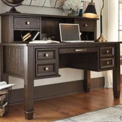 Home Office Desk Chairs Chair Covers Wedding Bristol Desks Ashley Furniture Homestore Large Townser With Hutch Rollover