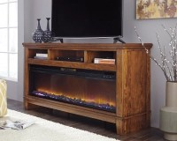 "Ralene 65"" TV Stand with Electric Fireplace 