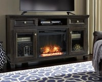 "Townser 62"" TV Stand with Electric Fireplace 