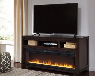 Rogness 63 TV Stand with Electric Fireplace  Ashley
