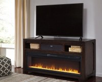 """Rogness 63"""" TV Stand with Fireplace & Wireless Pairing ..."""