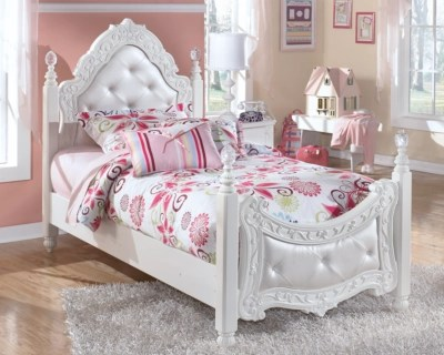 Exquisite Twin Poster Bed  Ashley Furniture HomeStore