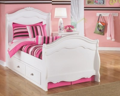 Exquisite Twin Sleigh Bed With Storage Ashley Furniture