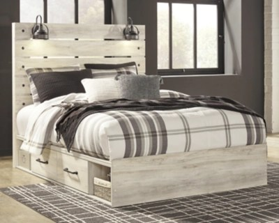 Cambeck Queen Panel Bed With 2 Storage Drawers Ashley Furniture Homestore