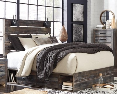 Drystan Queen Panel Bed With 4 Storage Drawers Ashley Furniture Homestore