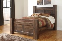 Quinden Queen Poster Bed | Ashley Furniture HomeStore