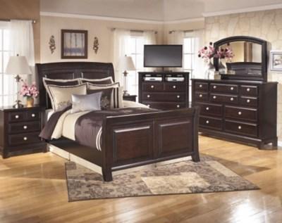 Ridgley Queen Sleigh Bed Ashley Furniture Homestore