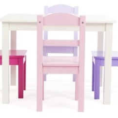 Kids Table With Chairs Recycled Milk Jug Tables Room For Craft Time Ashley Furniture Homestore Forever Wood And Four Set