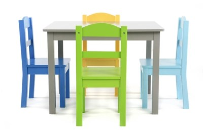 chairs for kids room bamboo back dining tables craft time ashley furniture homestore forest wood table and four set