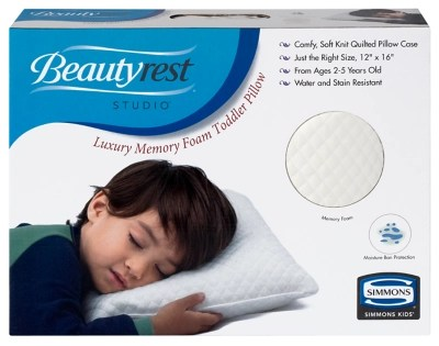 delta children beautyrest kids luxury memory foam toddler pillow
