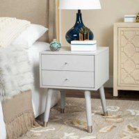 Lyla Mid Century Silver Cap Night Stand | Ashley Furniture ...