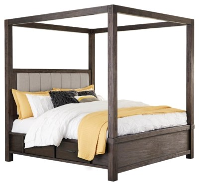 Dellbeck Queen Canopy Bed With 4 Storage Drawers Ashley Furniture Homestore