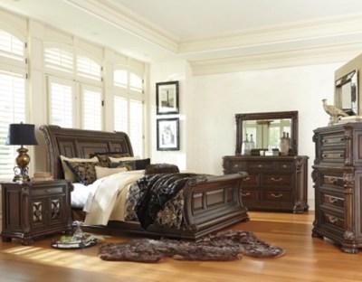 valraven queen sleigh bed