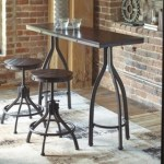 Odium Counter Height Dining Table And Bar Stools Set Of 3 Ashley Furniture Homestore