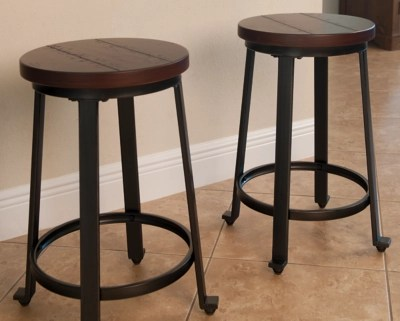 bar stool chairs dining table stools ashley furniture homestore large challiman counter height rollover