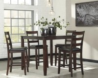 Coviar Counter Height Dining Room Table and Bar Stools ...