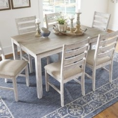 Dinning Room Table And Chairs Purple Bedroom Chair Skempton Dining Set Of 7 Ashley Furniture Large