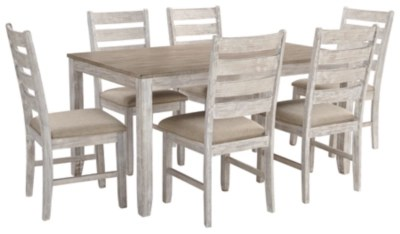 tables and chairs small task chair dining room sets move in ready ashley furniture homestore skempton table set of 7