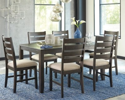 Cheap Dining Room Table And Chairs Rokane Dining Room Table And Chairs Set Of 7 Ashley Furniture