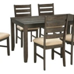 Tables And Chairs Chair Design Minecraft Dining Room Sets Move In Ready Ashley Furniture Homestore Rokane Table Set Of 7