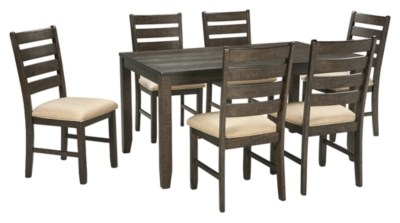 table with chairs headrest for barber chair dining room sets move in ready ashley furniture homestore rokane and set of 7