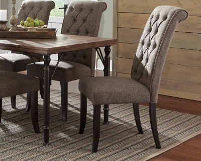 large tripton dining room chair graphite rollover