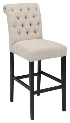 bar stool chair grey heated blanket for office stools ashley furniture homestore tripton height linen