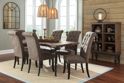 ashley furniture dining room chairs white patio chair tripton homestore graphite large