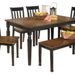 Table And Chairs Set Osaki Massage Dining Room Sets Move In Ready Ashley Furniture Homestore Owingsville 6 Piece