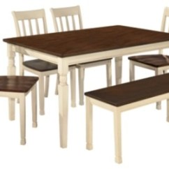 Table With Chairs Modern White Dining Chair Room Sets Move In Ready Ashley Furniture Homestore Whitesburg 6 Piece