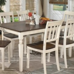 Kitchen Table And Chairs With Wheels Modern High Back Dining Room Tables Ashley Furniture Homestore Large Whitesburg Rollover