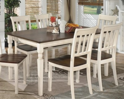 kitchen table and chair porch rocking dining room tables ashley furniture homestore large whitesburg rollover